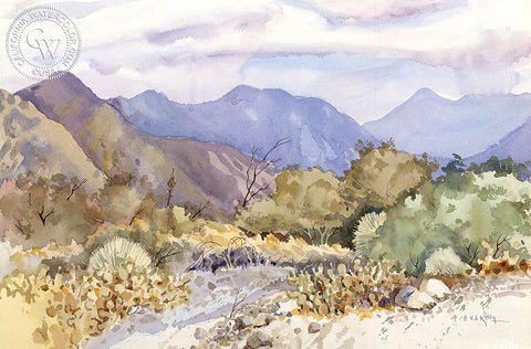 Palm Desert, California, an original watercolor painting by Ed Kelly. HD giclee art prints for sale at CaliforniaWatercolor.com - original California paintings, & premium giclee prints for sale