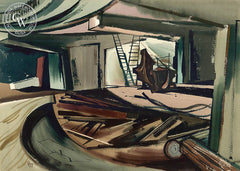Freeway Forms, California art by Edward Reep. HD giclee art prints for sale at CaliforniaWatercolor.com - original California paintings, & premium giclee prints for sale