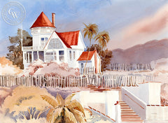 Holly Hill House, Catalina Island, California art by Ed Kelly. HD giclee art prints for sale at CaliforniaWatercolor.com - original California paintings, & premium giclee prints for sale