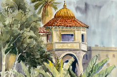 Pasadena Train Station, California art by Ed Kelly. HD giclee art prints for sale at CaliforniaWatercolor.com - original California paintings, & premium giclee prints for sale