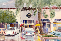 Sierra Madre, CA, California art by Ed Kelly. HD giclee art prints for sale at CaliforniaWatercolor.com - original California paintings, & premium giclee prints for sale