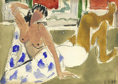 Nudes, 1967, California art by Elmer Bischoff. HD giclee art prints for sale at CaliforniaWatercolor.com - original California paintings, & premium giclee prints for sale