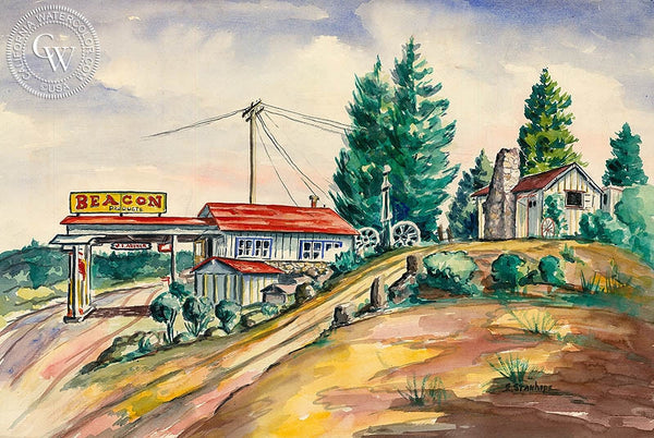 Beacon Products, California art by Elmer Stanhope. HD giclee art prints for sale at CaliforniaWatercolor.com - original California paintings, & premium giclee prints for sale
