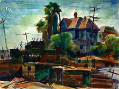 Bunker Hill, California art by Emil Kosa Jr.. HD giclee art prints for sale at CaliforniaWatercolor.com - original California paintings, & premium giclee prints for sale