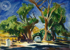 Country Home, c. 1941, California art by Emil Kosa Jr.. HD giclee art prints for sale at CaliforniaWatercolor.com - original California paintings, & premium giclee prints for sale