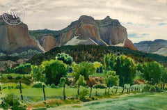 Kanab Cliffs, California art by Emil Kosa Jr.. HD giclee art prints for sale at CaliforniaWatercolor.com - original California paintings, & premium giclee prints for sale