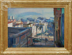 Emil Kosa Jr. - North Beach, San Francisco, c. 1942, an original California oil painting for sale, original California art for sale - CaliforniaWatercolor.com