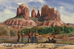 Sedona #3, California art by Emil Kosa Jr.. HD giclee art prints for sale at CaliforniaWatercolor.com - original California paintings, & premium giclee prints for sale