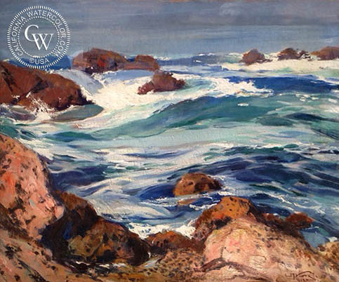 Emil Kosa Jr. - Seascape, an original California oil painting for sale, original California art for sale - CaliforniaWatercolor.com