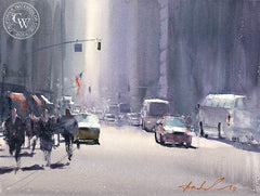 A New York Minute, California art by Frank Eber. HD giclee art prints for sale at CaliforniaWatercolor.com - original California paintings, & premium giclee prints for sale