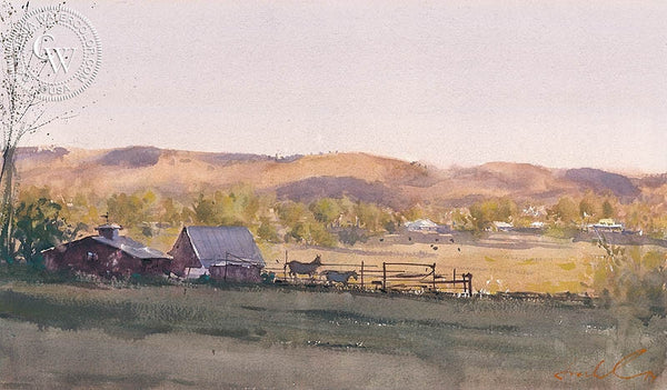 As the Day Ends, California art by Frank Eber. HD giclee art prints for sale at CaliforniaWatercolor.com - original California paintings, & premium giclee prints for sale
