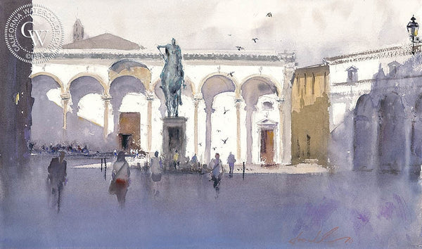 Ferdinando, Florence, Italy, California art by Frank Eber. HD giclee art prints for sale at CaliforniaWatercolor.com - original California paintings, & premium giclee prints for sale