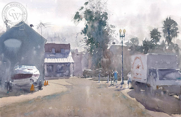 Newport, California art by Frank Eber. HD giclee art prints for sale at CaliforniaWatercolor.com - original California paintings, & premium giclee prints for sale