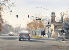 Paso Life, California art by Frank Eber. HD giclee art prints for sale at CaliforniaWatercolor.com - original California paintings, & premium giclee prints for sale