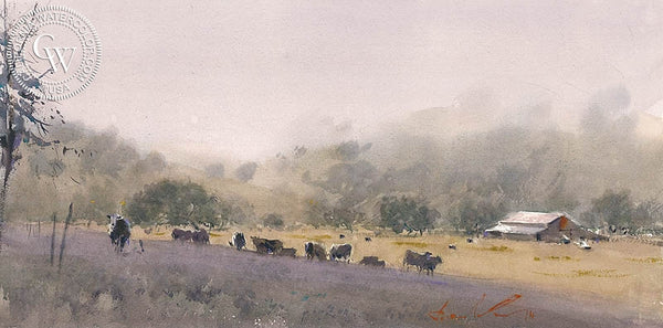 Paso Roblean's, California art by Frank Eber. HD giclee art prints for sale at CaliforniaWatercolor.com - original California paintings, & premium giclee prints for sale