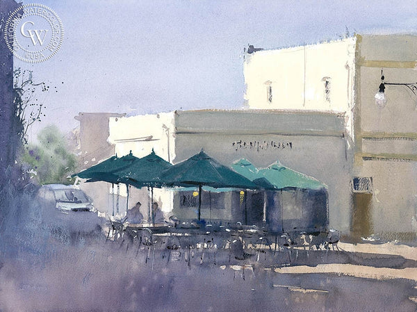 The Early Meeting, Orange, CA, California art by Frank Eber. HD giclee art prints for sale at CaliforniaWatercolor.com - original California paintings, & premium giclee prints for sale