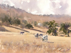 We're Not in TX Anymore, California art by Frank Eber. HD giclee art prints for sale at CaliforniaWatercolor.com - original California paintings, & premium giclee prints for sale