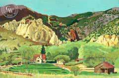 Homestead, California art by Frank J. Gavencky. HD giclee art prints for sale at CaliforniaWatercolor.com - original California paintings, & premium giclee prints for sale