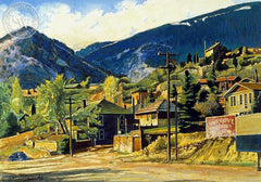 Pine Cove Cottages, California art by Frank J. Gavencky. HD giclee art prints for sale at CaliforniaWatercolor.com - original California paintings, & premium giclee prints for sale