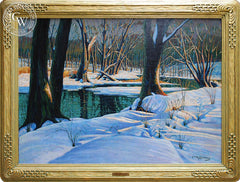 Frank J. Gavencky - Salt Creek, c. 1940, an original California oil painting for sale, original California art for sale - CaliforniaWatercolor.com