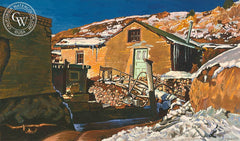 Santa Fe, c. 1940's, California art by Frank J. Gavencky. HD giclee art prints for sale at CaliforniaWatercolor.com - original California paintings, & premium giclee prints for sale