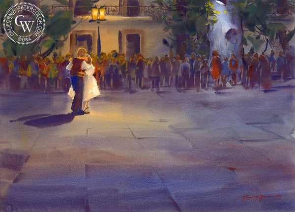 A Wedding in Old Mexico, California art by Frank LaLumia. HD giclee art prints for sale at CaliforniaWatercolor.com - original California paintings, & premium giclee prints for sale