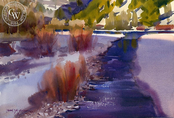 Anthracite Creek, California art by Frank LaLumia. HD giclee art prints for sale at CaliforniaWatercolor.com - original California paintings, & premium giclee prints for sale