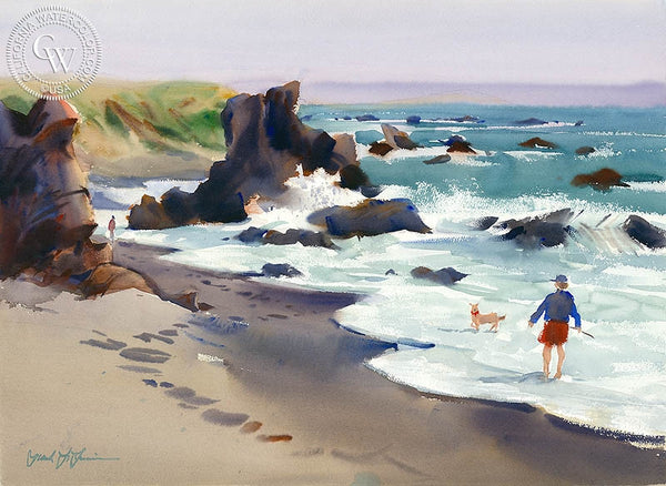 Cinde Lou and Astro, Sonoma, California art by Frank LaLumia. HD giclee art prints for sale at CaliforniaWatercolor.com - original California paintings, & premium giclee prints for sale