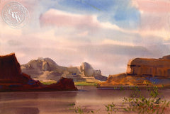 Colorado River, California art by Frank LaLumia. HD giclee art prints for sale at CaliforniaWatercolor.com - original California paintings, & premium giclee prints for sale