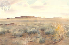 Dust Devils, California art by Frank LaLumia. HD giclee art prints for sale at CaliforniaWatercolor.com - original California paintings, & premium giclee prints for sale