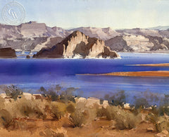 Lake Powell, Arizona, California art by Frank LaLumia. HD giclee art prints for sale at CaliforniaWatercolor.com - original California paintings, & premium giclee prints for sale