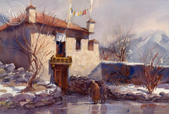 Little Tibet, California art by Frank LaLumia. HD giclee art prints for sale at CaliforniaWatercolor.com - original California paintings, & premium giclee prints for sale