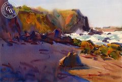 Sunrise on the Sonoma Coast, California art by Frank LaLumia. HD giclee art prints for sale at CaliforniaWatercolor.com - original California paintings, & premium giclee prints for sale