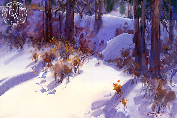 Walks with Naya No. 3, California art by Frank LaLumia. HD giclee art prints for sale at CaliforniaWatercolor.com - original California paintings, & premium giclee prints for sale