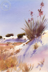 White Sands National Monument, California art by Frank LaLumia. HD giclee art prints for sale at CaliforniaWatercolor.com - original California paintings, & premium giclee prints for sale