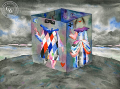 Jester Box, California art by Franz Bergmann. HD giclee art prints for sale at CaliforniaWatercolor.com - original California paintings, & premium giclee prints for sale