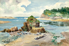 A California Day, California art by Fred Sersen. HD giclee art prints for sale at CaliforniaWatercolor.com - original California paintings, & premium giclee prints for sale