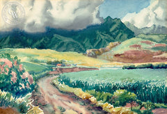 Hawaiian Road, California art by Fred Sersen. HD giclee art prints for sale at CaliforniaWatercolor.com - original California paintings, & premium giclee prints for sale
