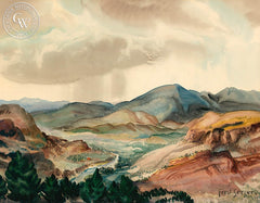 Valley, 1946, California art by Fred Sersen. HD giclee art prints for sale at CaliforniaWatercolor.com - original California paintings, & premium giclee prints for sale