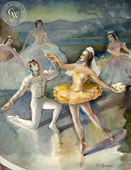 Ballerinas, California art by Frederick Penney. HD giclee art prints for sale at CaliforniaWatercolor.com - original California paintings, & premium giclee prints for sale