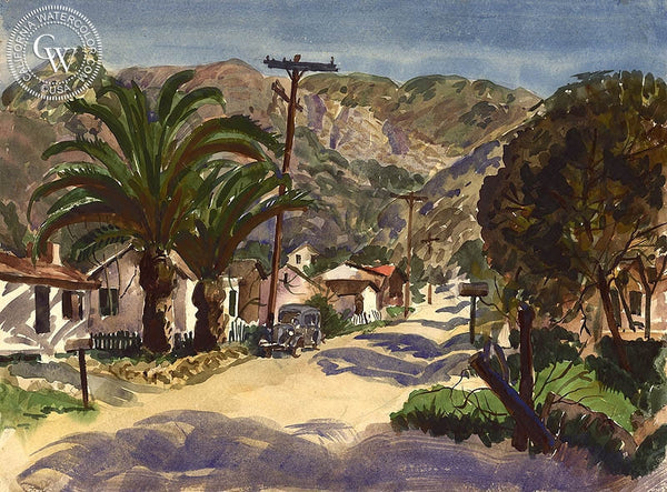 Early Laguna Beach, California art by Frederick Schwankovsky. HD giclee art prints for sale at CaliforniaWatercolor.com - original California paintings, & premium giclee prints for sale