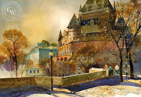 George Gibson - Quebec Fall, California art, original California watercolor art for sale - CaliforniaWatercolor.com