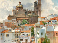 George Gibson - Santa Prisca en la Tarde - California art - fine art print for sale, giclee watercolor print - Californiawatercolor.com