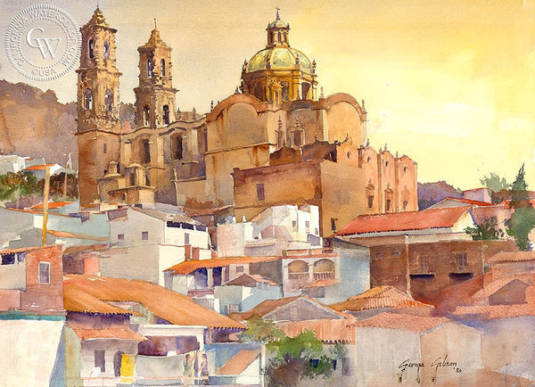 George Gibson - Santa Prisca Afternoon, 1980, California art, original California watercolor art for sale - CaliforniaWatercolor.com