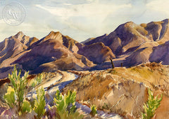 George Gibson - Desert Landscape - California art - Californiawatercolor.com