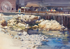 George Gibson - Watchers Rocks (Monterey), California art, original California watercolor art for sale - CaliforniaWatercolor.com