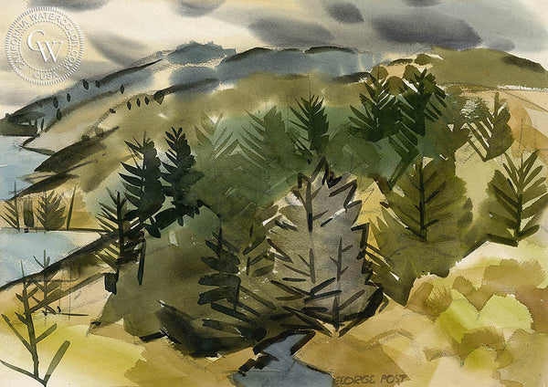California Landscape, California art by George Post. HD giclee art prints for sale at CaliforniaWatercolor.com - original California paintings, & premium giclee prints for sale