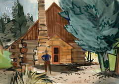 Maynard Dixon and Milford Zornes' House, UT, California art by George Post. HD giclee art prints for sale at CaliforniaWatercolor.com - original California paintings, & premium giclee prints for sale