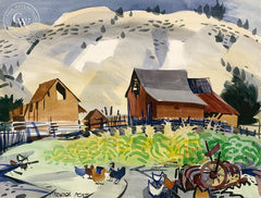 Mount Carmel, California art by George Post. HD giclee art prints for sale at CaliforniaWatercolor.com - original California paintings, & premium giclee prints for sale