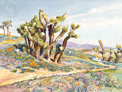 Antelope Valley Poppies, California art by Glen Knowles. HD giclee art prints for sale at CaliforniaWatercolor.com - original California paintings, & premium giclee prints for sale